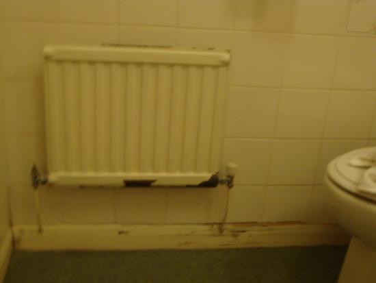 Radiator Voor Toilet : Rusty radiator and scruffy skirting in bathroom picture of