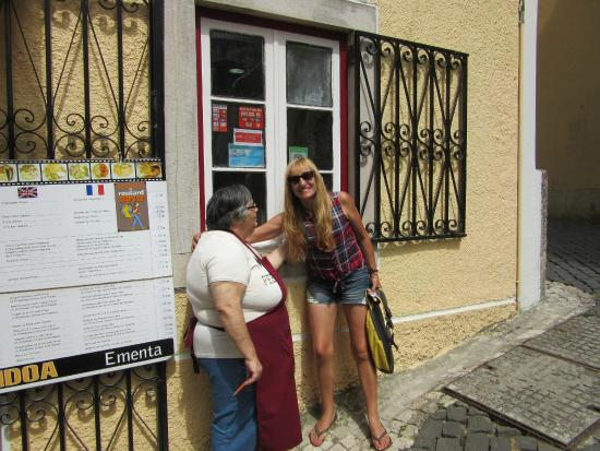 Restaurante Pendoa: Foto con la dueña del restaurante, como en familia nos hicieron sentir