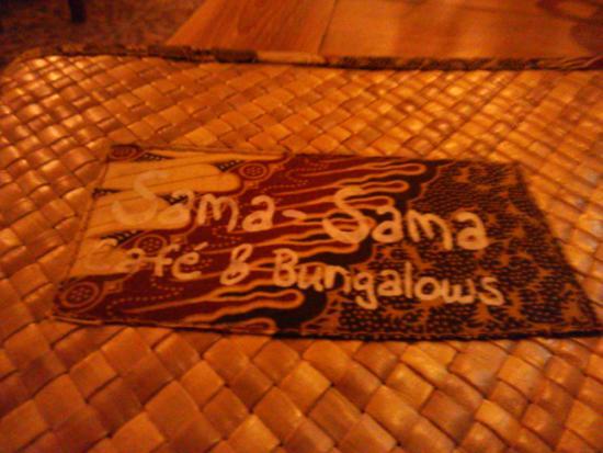 Sama Sama Cafe: メニューがかわいい