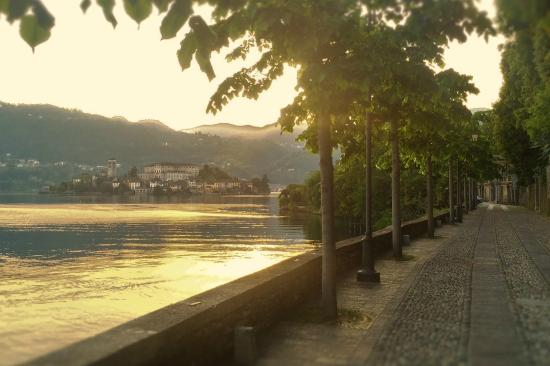 The walk from Villa Pinin into Orta San Giulio