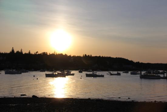 Seafood Ketch: View of Bass Harbor at Sunset