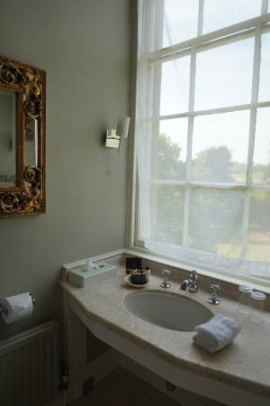 Ston Easton Park Hotel: Bathroom overlooking the grounds