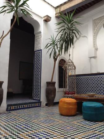 Dar el Ma: Oneof many cool and comfortable spots to sit