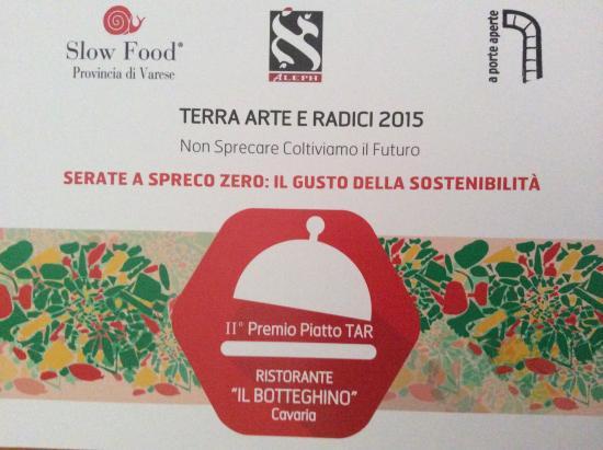 """Il Botteghino: Premiazione piatto """" Pappa al pomodoro"""""""