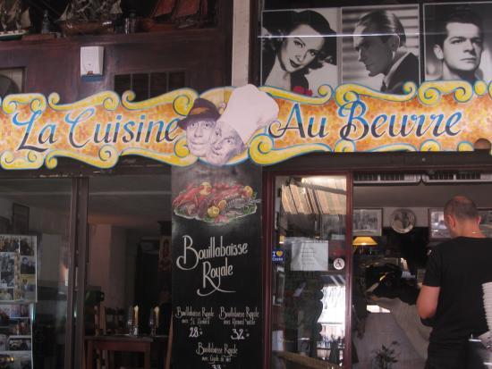 entrance to restaurant - picture of la cuisine au beurre