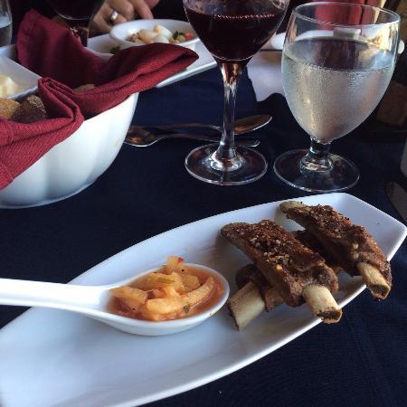 Cafe Dario : Ribs with pineapple jalapeño salsa.