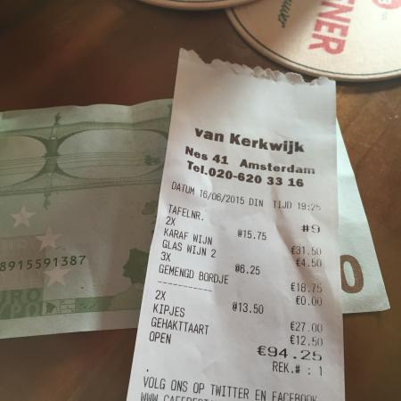Van Kerkwijk : The total bill