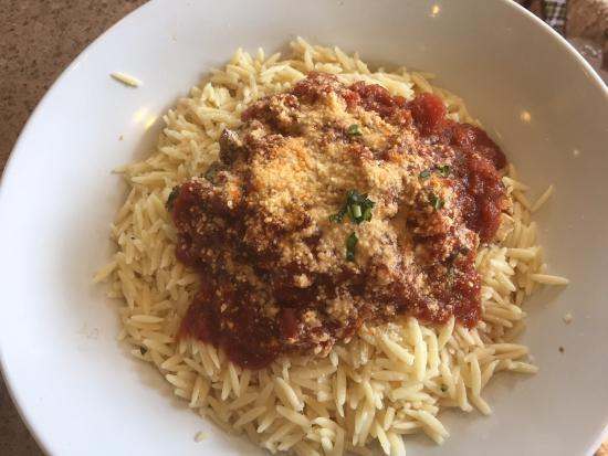 Zo S Kitchen Chicken Orzo orzo pasta - picture of zoes kitchen, gainesville - tripadvisor