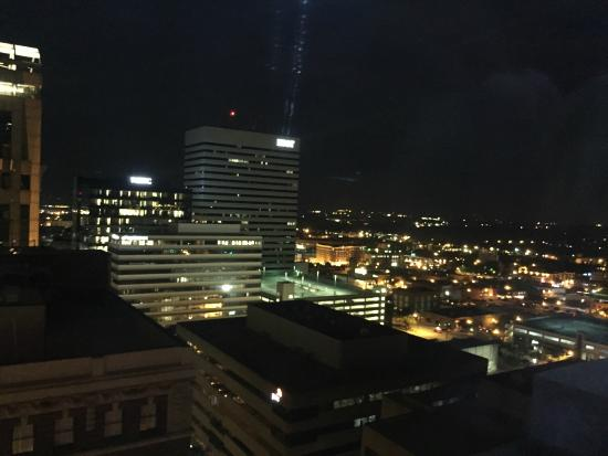 Sheraton Columbia Downtown Hotel Night Time View From The Rooftop Bar