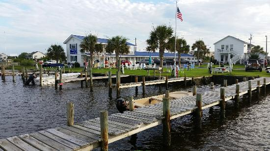 Waterway Inn viewed from their biggest dock
