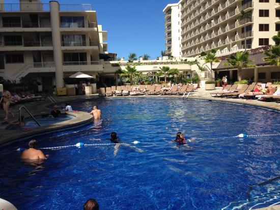 Outrigger Reef Waikiki Beach Resort Relaxing Pool Area