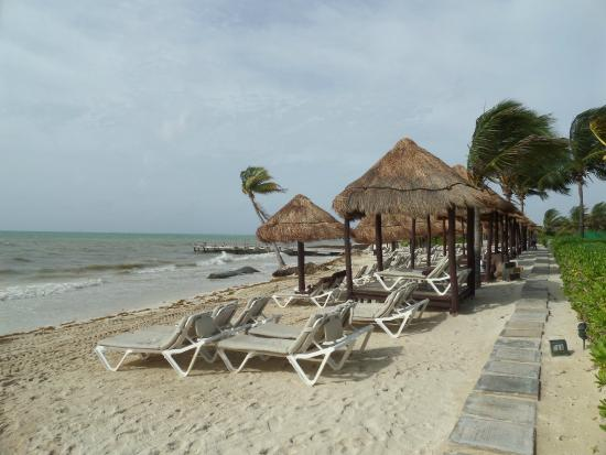 Secrets Capri Riviera Cancun The Beach With All Seaweed Cleared Off