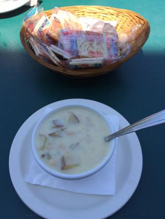 Astoria's portway: Awesome clam chowder and halibut.