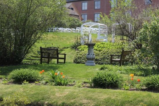Moffatt-Ladd House & Garden: View of the Upper Garden from the Lower Garden