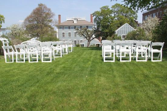 Moffatt-Ladd House & Garden: Set Up for the Ceremony in the Upper Garden