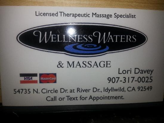 Idyllwild Wellness Waters & Massage