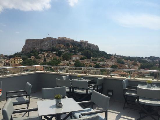 Central Athens Hotel: Roof deck
