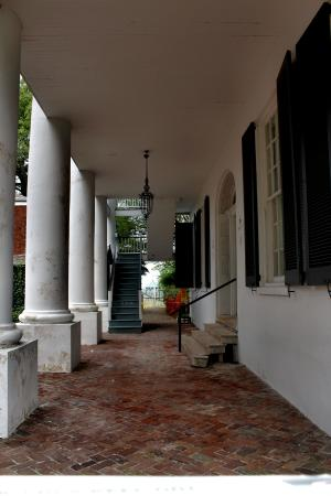 Natchez, MS: Back porch of Rosalie