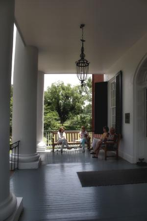 Natchez, MS: Front porch of Rosalie
