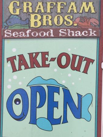 Graffam Bros Seafood Shack: sign