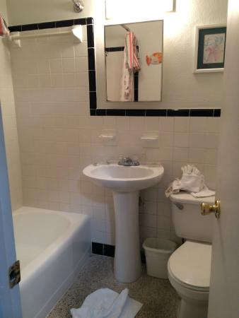 Tropical Winds Motel & Cottages: Small bathroom