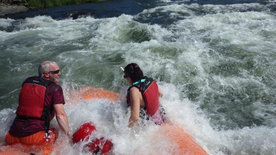Orange Torpedo Rafting Trips: white water surfing in a class III