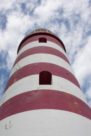 Hope Town Lighthouse: The Lighthouse from Below