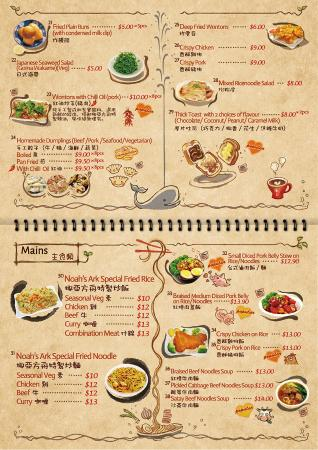 Food menu page 4 picture of noahs ark teahouse wellington noahs ark teahouse food menu page 4 forumfinder Image collections