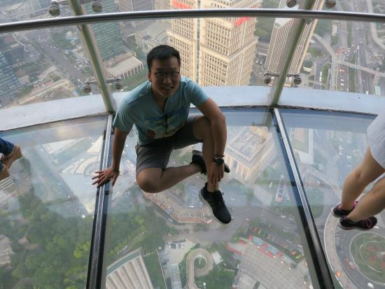 Glass Floor Picture Of Oriental Pearl Tower Dongfang