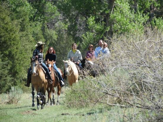 Bitter Creek Outfitters: Theresa leading a ride