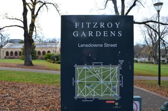 Fitzroy Gardens Map Fitzroy Gardens Map   Picture of Fitzroy Gardens, Melbourne  Fitzroy Gardens Map