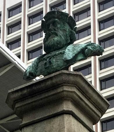 Vasco da Gama Monument: Bust of Vasco da Gama