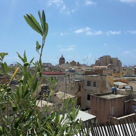 Foto dei tetti di Marsala dalla terrazza del B&B Due passi dal centro