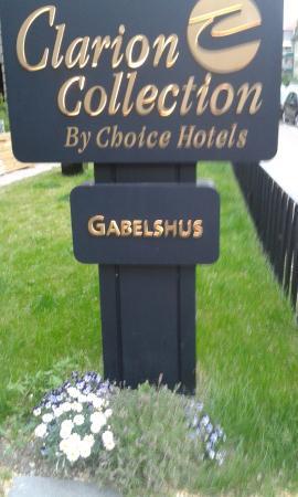 Clarion Collection Hotel Gabelshus: Вывеска на входе