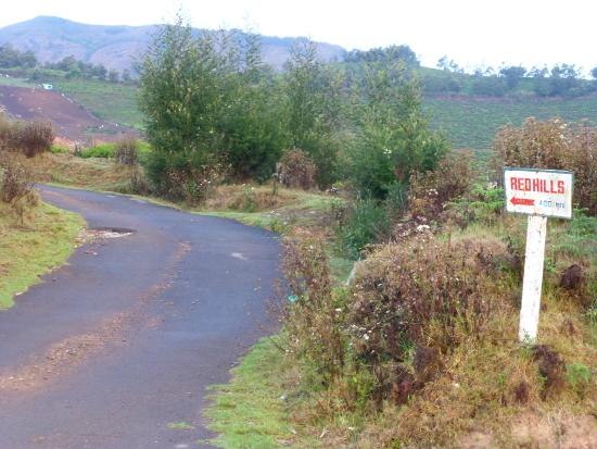 Red Hill Nature Resort: entrance to Red Hills from the main road
