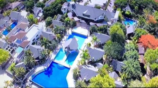 Aerial Photo Acuatico Beach Resort Hotel Laiya TripAdvisor - Acuatico beach resort map