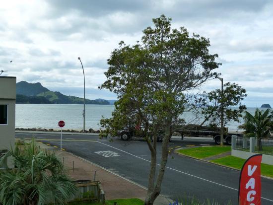 Beachside Resort Whitianga: View from balcony of room.