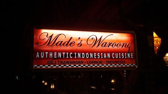 Warung Indonesia: Вывеска