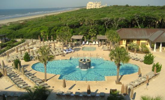 The Sanctuary Hotel At Kiawah Island Golf Resort Outdoor Pool And Bar Areas