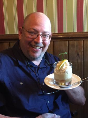 Owens' Restaurant: Free commemorative glass and seven layer lemon dessert for the dads on Father's Day!!!