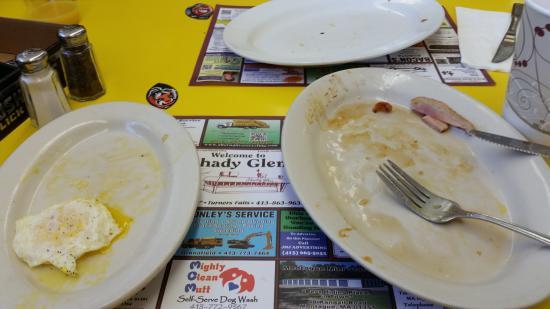 Shady Glen: empty plate great food