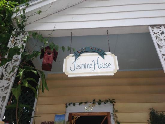 Jasmine House: Entrance/porch, cute decor and plants.