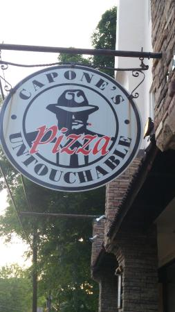 Capone's Pizza: Front Signage