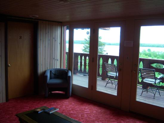 Ely, MN: Sitting area outside room and deck.