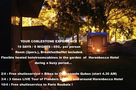 Hoorebeke, Belgien: Coblestone experience package