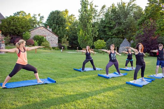 Ste. Anne's Spa: Outdoor Yoga