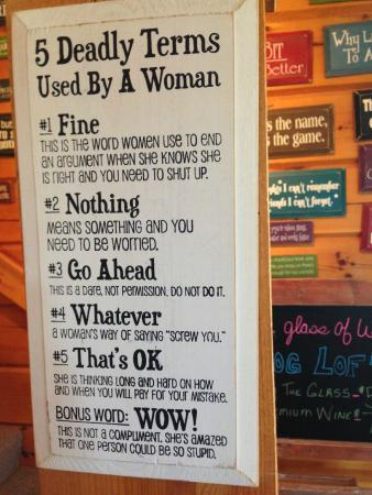 Harbor Ridge Winery : Fun signs for purchase!