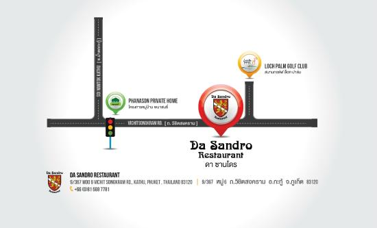 Da Sandro Trattoria: New Map of Da Sandro restaurant