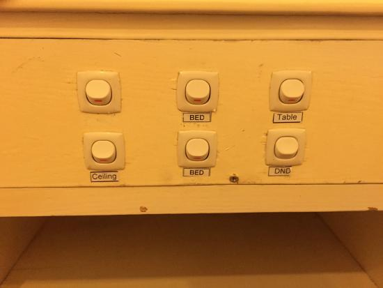 Bao Son International Hotel: Control panel for electrical outlets -- time for an update!