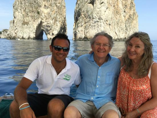 Hotel Canasta: Memorable boat trip with our captain Giancarlo